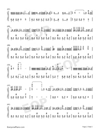 Amnesia-TikTok Song-Numbered-Musical-Notation-Preview-2