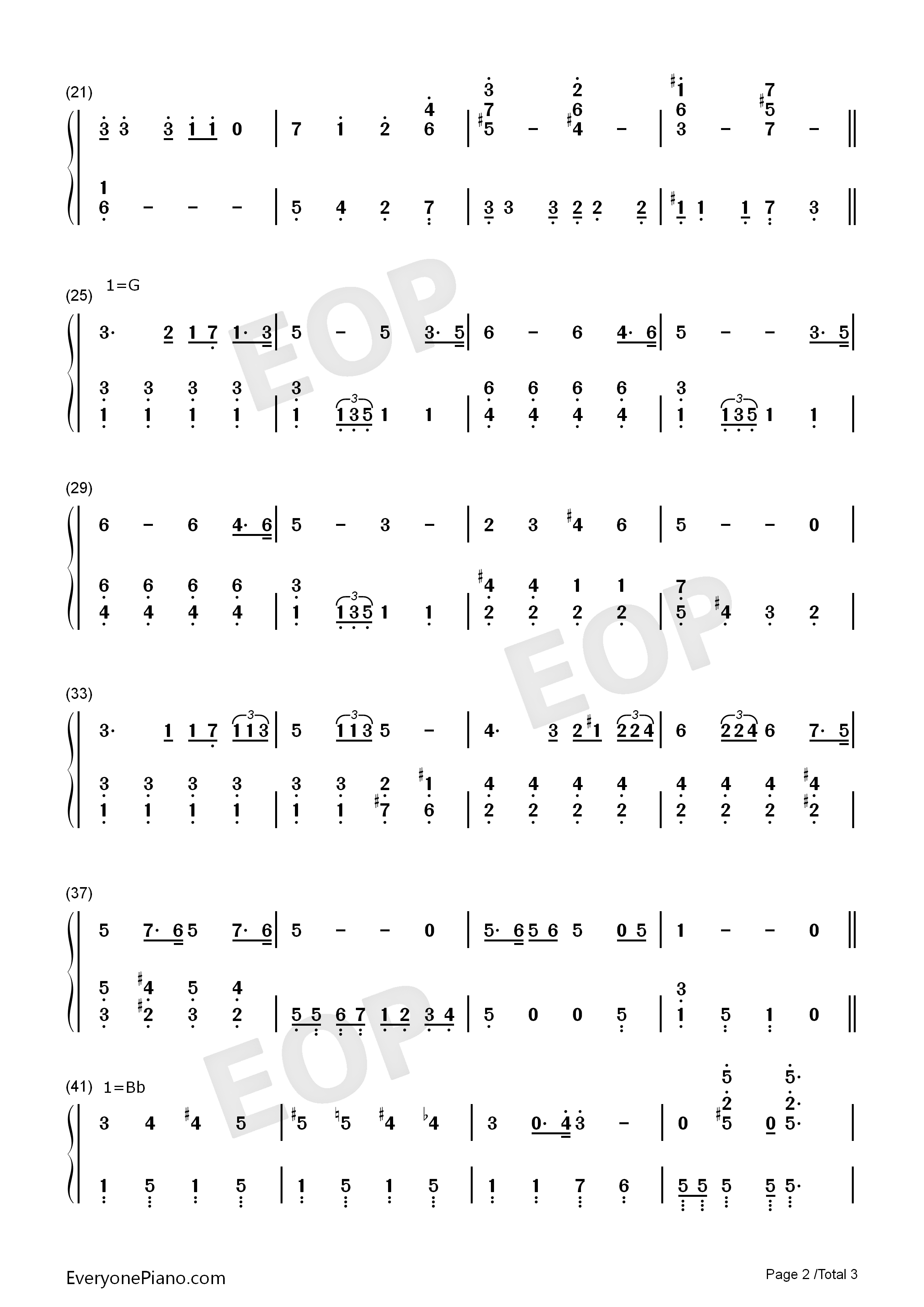 Ultraman Taro Numbered Musical Notation Preview 2