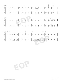 Ultraman Taro Numbered Musical Notation Preview 3