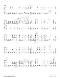 莉莉安-宋冬野雙手簡譜預覽3