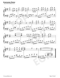 莉莉安-宋冬野五線譜預覽3