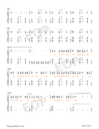 Desert Camel Numbered Musical Notation Preview 5