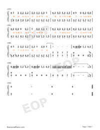 Desert Camel Numbered Musical Notation Preview 7