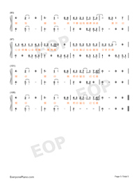 If Lonely Numbered Musical Notation Preview 5