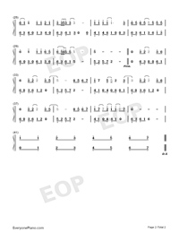 Special Love For Special You-Royal Scoundrel Theme Numbered Musical Notation Preview 2