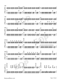 Chevaliers De Sangreal-The Da Vinci Code OST-Numbered-Musical-Notation-Preview-2