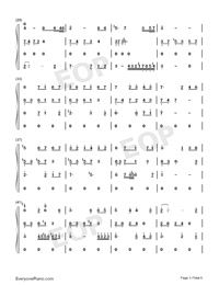 Lost Angels-Melody Of The Night IV-Numbered-Musical-Notation-Preview-3