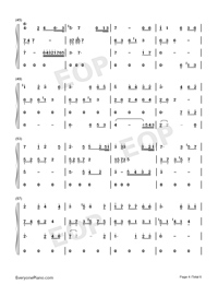 Lost Angels-Melody Of The Night IV-Numbered-Musical-Notation-Preview-4