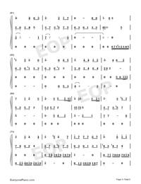 Lost Angels-Melody Of The Night IV-Numbered-Musical-Notation-Preview-5