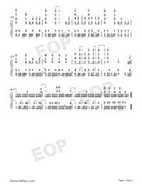 ハイステッパー-はねバド!ED両手略譜プレビュー3