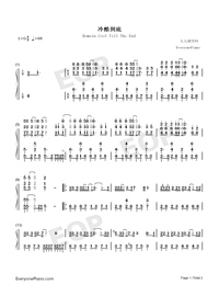 Remain Cool Till The End-Numbered-Musical-Notation-Preview-1