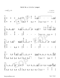 Hold On a Little Longer-Xeuphoria-Numbered-Musical-Notation-Preview-1