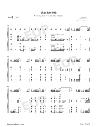Waiting For You In The Future-Numbered-Musical-Notation-Preview-1