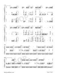 Waiting For You In The Future-Numbered-Musical-Notation-Preview-2