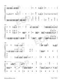 Waiting For You In The Future-Numbered-Musical-Notation-Preview-3