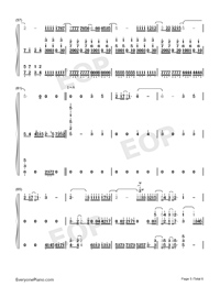 Waiting For You In The Future-Numbered-Musical-Notation-Preview-5