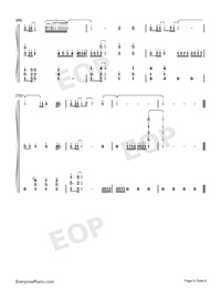 Waiting For You In The Future-Numbered-Musical-Notation-Preview-6
