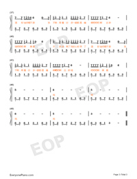 A Guo Ji Qu-Numbered-Musical-Notation-Preview-3