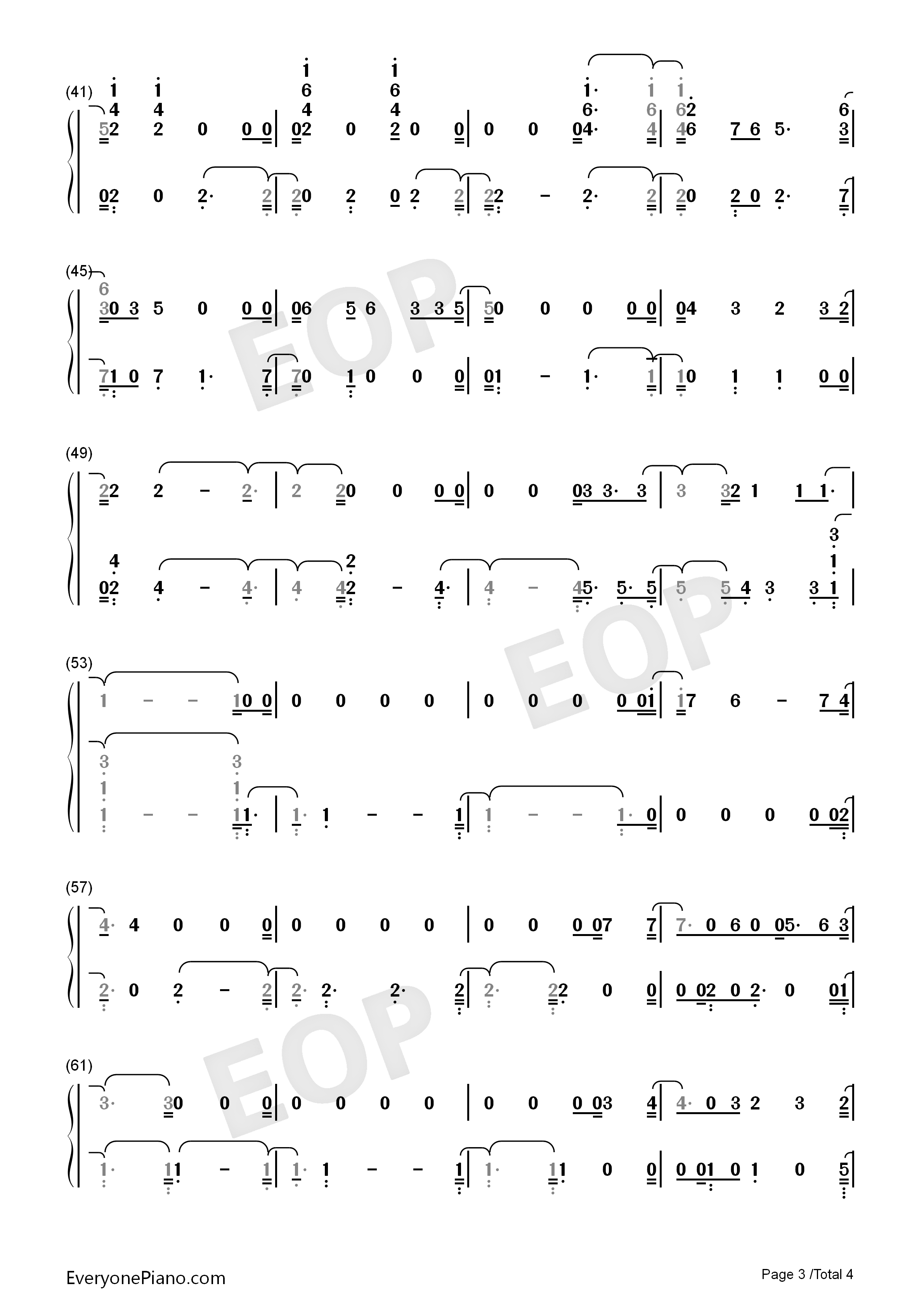 I Don't Know What Love Is-A Star Is Born OST Numbered Musical Notation Preview 3