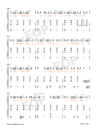 Believe-Stefanie Sun-Numbered-Musical-Notation-Preview-5