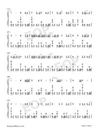 一半-雙世寵妃Ⅱ插曲雙手簡譜預覽2