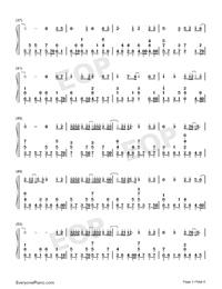 一半-雙世寵妃Ⅱ插曲雙手簡譜預覽3