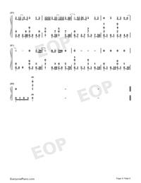 一半-雙世寵妃Ⅱ插曲雙手簡譜預覽4