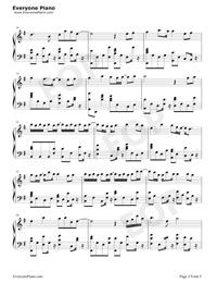 一半-雙世寵妃Ⅱ插曲五線譜預覽2