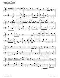 一半-雙世寵妃Ⅱ插曲五線譜預覽4