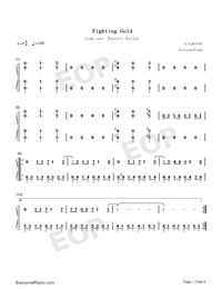 Fighting Gold-JoJo's Bizarre Adventure Golden Wind OP-Numbered-Musical-Notation-Preview-1