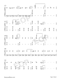 Fighting Gold-JoJo's Bizarre Adventure Golden Wind OP-Numbered-Musical-Notation-Preview-2