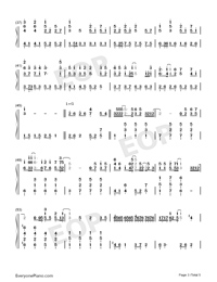 Wings Of My Words-The Ark of Mr. Chow Theme-Numbered-Musical-Notation-Preview-3