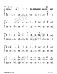 Wings Of My Words-The Ark of Mr. Chow Theme-Numbered-Musical-Notation-Preview-4