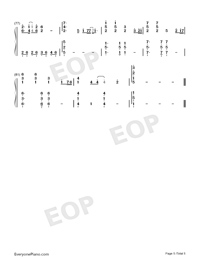 Wings Of My Words-The Ark of Mr. Chow Theme-Numbered-Musical-Notation-Preview-5