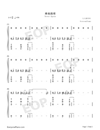Never Again-Ryan.B-Numbered-Musical-Notation-Preview-1