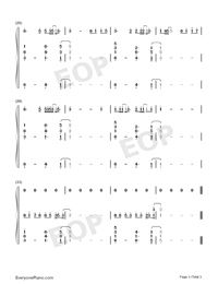 Never Again-Ryan.B-Numbered-Musical-Notation-Preview-3