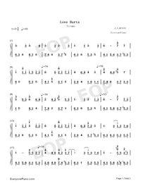 Love Hurts-Yiruma-Numbered-Musical-Notation-Preview-1