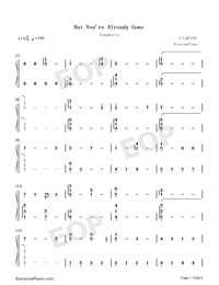 But You're Already Gone-Xeuphoria-Numbered-Musical-Notation-Preview-1