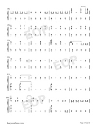 But You're Already Gone-Xeuphoria-Numbered-Musical-Notation-Preview-3