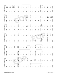But You're Already Gone-Xeuphoria-Numbered-Musical-Notation-Preview-4
