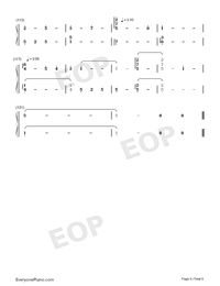 But You're Already Gone-Xeuphoria-Numbered-Musical-Notation-Preview-6