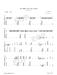 For When You Are Alone-Xeuphoria-Numbered-Musical-Notation-Preview-1
