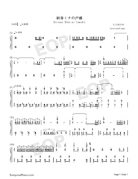 Hatsune Miku no Tomadoi Numbered Musical Notation Preview 1