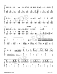 Hatsune Miku no Tomadoi Numbered Musical Notation Preview 3