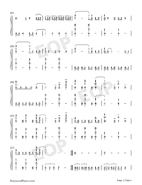 Head Above Water-Avril Lavigne-Numbered-Musical-Notation-Preview-2