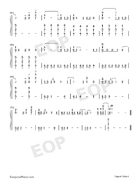 Head Above Water-Avril Lavigne-Numbered-Musical-Notation-Preview-4