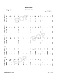 My Dear Mother-Numbered-Musical-Notation-Preview-1