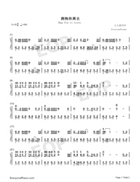 Hug You to Leave-Numbered-Musical-Notation-Preview-1