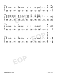 Hug You to Leave-Numbered-Musical-Notation-Preview-2