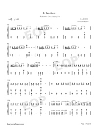 Atlantico-Roberto Cacciapaglia-Numbered-Musical-Notation-Preview-1